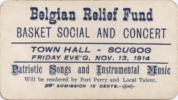 Canadian fund-raising notice from November 1914