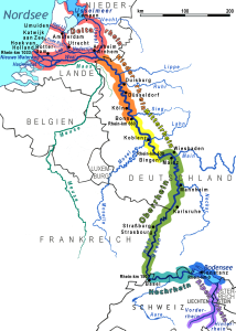 Map of River Rhine, showing how important its strategic position was for Germany.