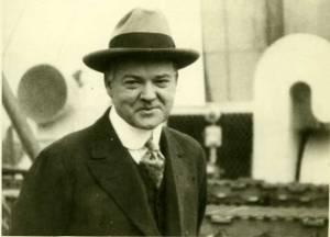 Herbert Hoover as Head of the self-styled Belgian Relief Agency.