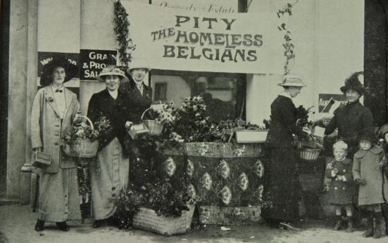 New Zealanders support the Belgian Relief appeal, 1914