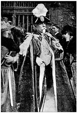 Sir Basil Zaharoff strutting around having been given the Order of the Bath by King George V