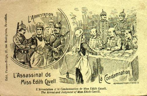 A contemporary Franco-Belgian representation of Edith's arrest and judgement. Completely fabricated.