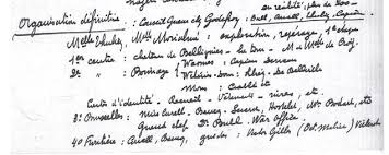 Herman Capiau's handwritten note in the Brussel archives