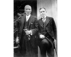 J D Rockefeller senior and junior. Their vast wealth was based on Standard Oil. They set up the Rockefeller Foundation in 1913
