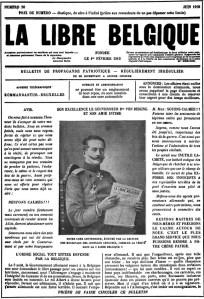 La Libre Belgique, lampooning General von Bissing