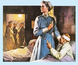 Propaganda. Edith's arrest bore no likeness to this dramatic image.