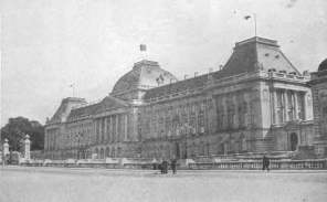 The Royal Palace in Brussels was used as a military hospital during the war.
