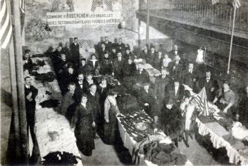 Comite National in Belgium was responsible for the disbursement of food once it reached Belgium