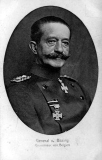 General Von Bissing, Governor General of Belgium.