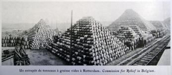 Barrels of fat delivered to Rotterdam which Hamill claimed was being sent to Germany to prolong the war.