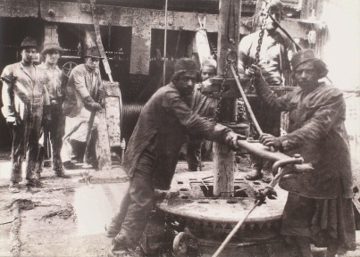 Anglo-Persian oil well in 1914