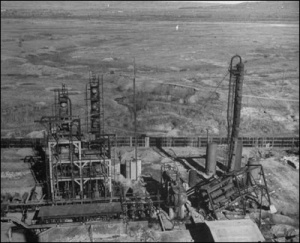 Birdeye view of Romana-Americana oil refinery