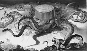 The great oil octopus depicting Standard Oil's attempt to dominate the global supply of oil.