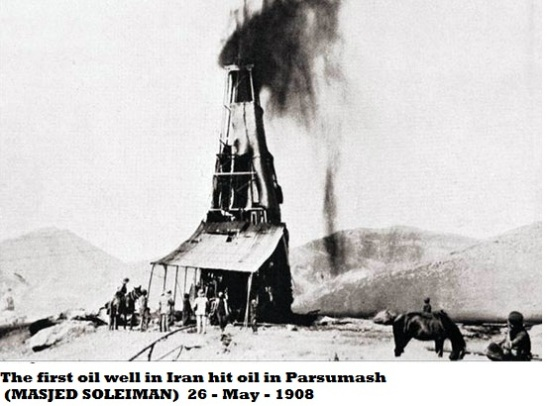 Anglo-Persian oil discovery in 1908