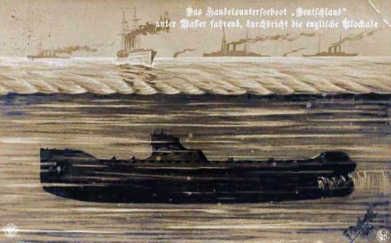 Deutschland the German Merchant U-Boat