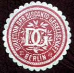 Disconto - Gesellschaft bank stamp