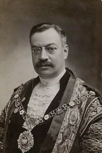 Marcus Samuel founder of the Shell Trading Company, as Lord Mayor of London