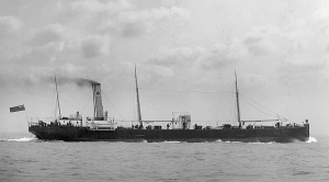 Shell tanker Trigonia, built in Newcastle in 1898, typical of a fleet that flew the Dutch Flag