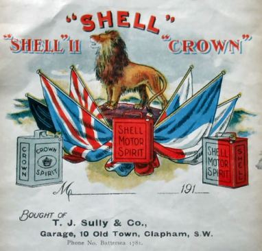 Shell Trading Company advert around 1900.