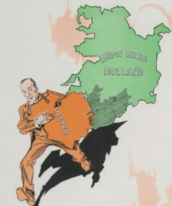 Carson Kidnaps Ulster- Puck cartoon