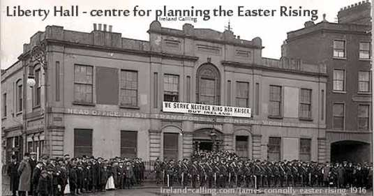 Irish-Citizen Army outside original Liberty Hall in Dublin.