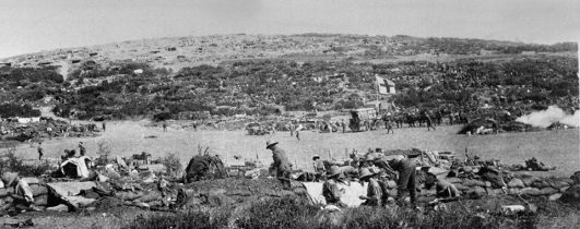 Irish troops at Suvla Bay in Gallipoli
