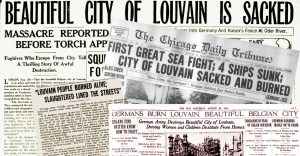 The burning of Louvain resonated across the world press as an outrage.