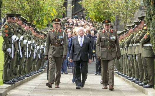 2015 Commemorations of the Easter Rising led by President Michael D Higgins