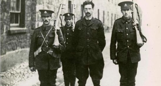 Eamonn Devalera under arrest