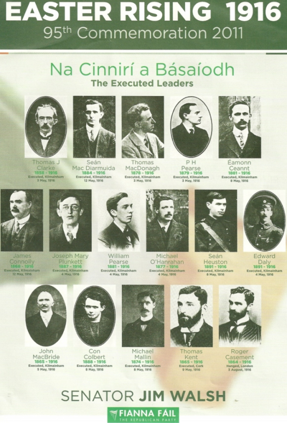 The men behind the Easter Rising of 1916 - their legacy is the independent country that is Ireland today.