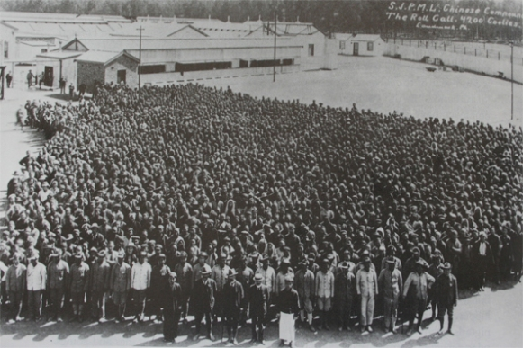 Around 4,200 Chinese mine workers imported for the Simmer and Jack Mine on the Witwatersrand 1904-1910.