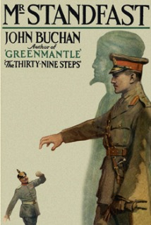 The cover from a more recent edition of Hannay novels presents the propaganda images well.