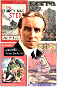 John Buchan poster. Note of these 4, Huntingtower was not a Hannay novel.