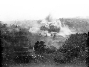 Daily artillery barrages from both sides added to the waste and horror on the Western Front.