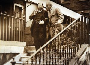 Lord Derby and David Lloyd George in close conversation. He was a personal friend of George.