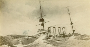 HMS Hampshire in force 9 Gale