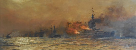 Pictorial representation of the Battle of Jutland