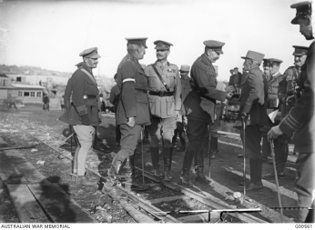 Kitchener conversing with French Allies