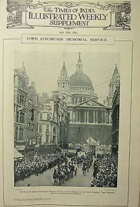 Kitchener Memorial Service at St Paul's in London.