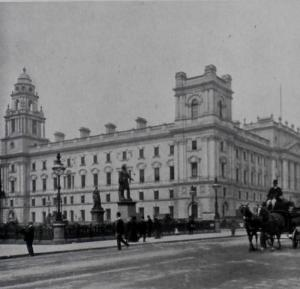 Board of Trade offices from Parliament Square around 1900.