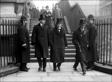 From the left, Lord Crewe, Winston Churchill and Sir Edward Grey. Crewe and Grey were dismissed ini 1916. Churchill was still sidelined by Lloyd George.
