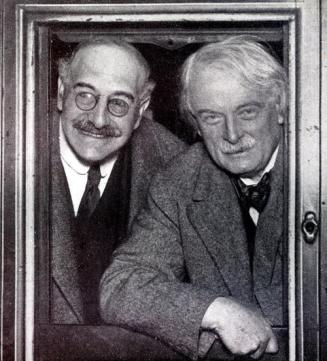 Alfred Mond (left) with Lloyd George.