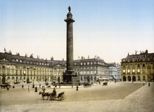 The iconic Place Vendome Paris where Lloyd George claimed to have been advised by Maurice Hankey on a reconstituted approach to government.