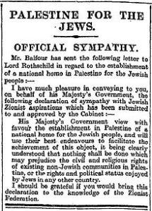 Newspaper reports carried the full text of the Declaration in Britain.