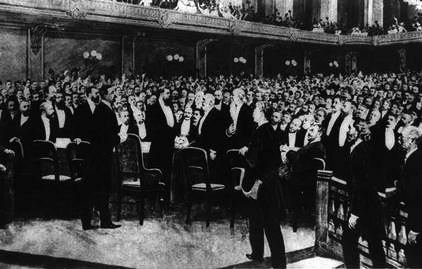 Delegates at the First Zionist congress at Basle in Switzerland.