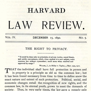 The Harvard Law Review article which made Brandeis famous.