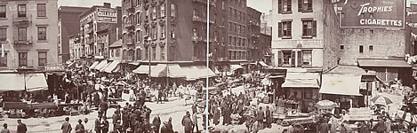 Lower East Side New York, a haven for Jewish immigrants in the first decade of the twentieth century.