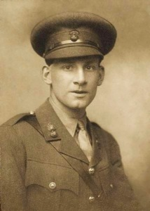 Siegfried Sassoon in military uniform. His bravery at the front won him the Military Cross