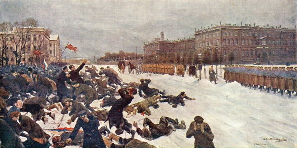 A painting of the Bloody Sunday massacre by Ivan Vladimirov