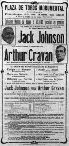 Poster for Cravan's 1916 fight in Spain 1916